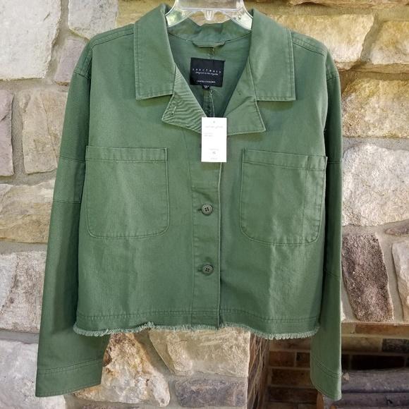 da83d2b3aa66c Sanctuary Jackets & Coats   Clothing Green Crop Jacket Size Xl ...